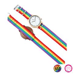 Armbanduhr Regenbogenfarben