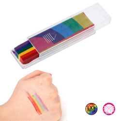 Face Paint Tattoo Regenbogen