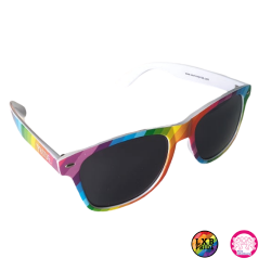 Sonnenbrille Regenbogenfarben